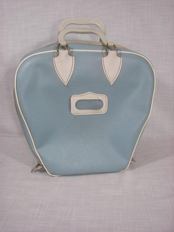 Vintage Bowling Bag Light Blue - Etsy ZellasAttic $25