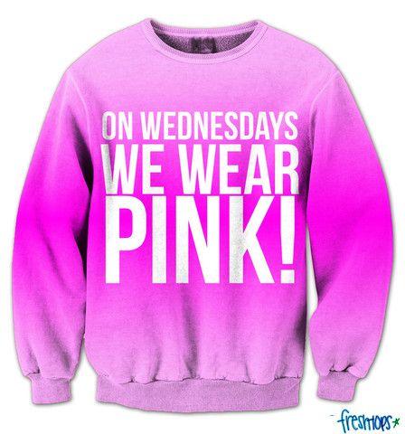 wednesdays pink crewneck - Fresh-tops.com