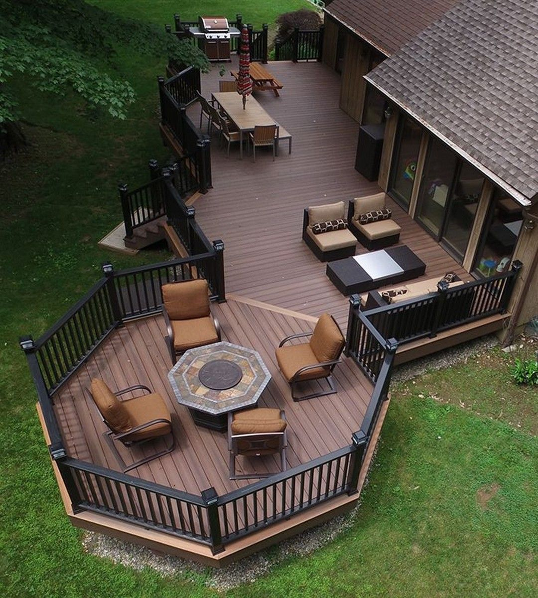 39 Creative Deck Patio Design You Should Try For Your Outdoor