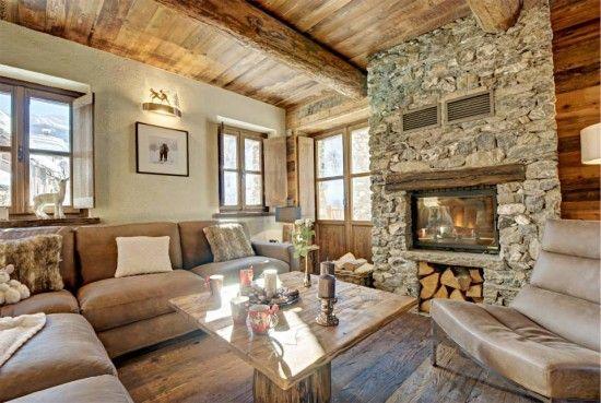 Sala moderna en madera tu sal n dec ralo decoracion for Casa moderna accogliente