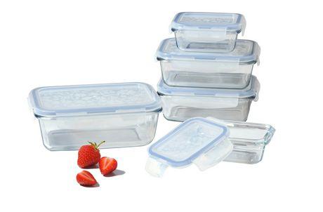 Lock Lock Glass 10 Piece Set Walmart Ca Glass Food Storage