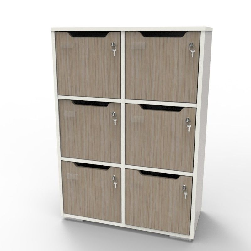 Meuble casier de rangement bureau ou vestiaires en bois Caseo