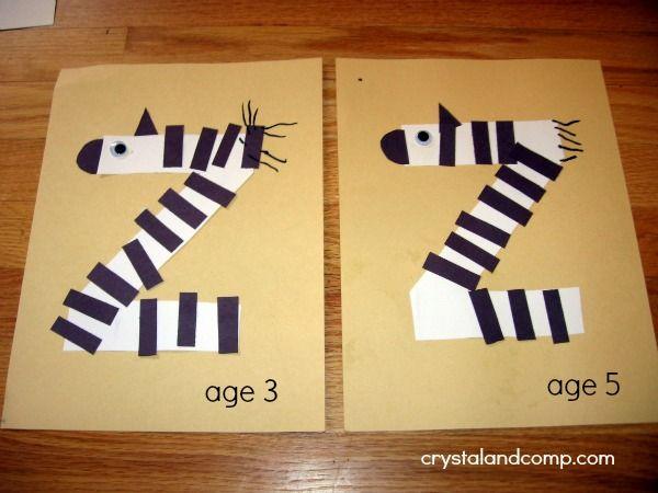 z is for zebra letter of the week preschool craft mommy solutions preschool crafts. Black Bedroom Furniture Sets. Home Design Ideas