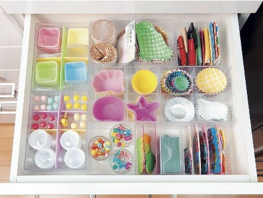 キッチンの引き出しをムダなく間仕切りする方法 暮らしニスタ 引き出し 仕切り 引き出し 収納 シンプル
