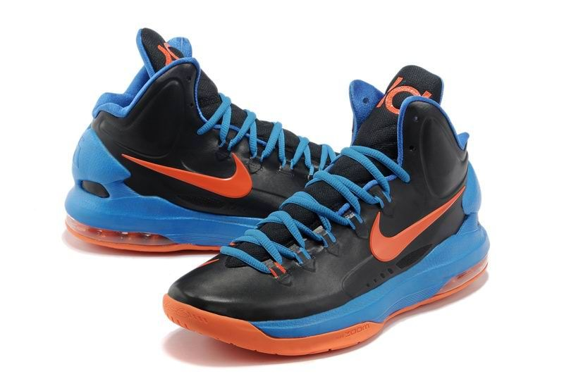 meet 74374 1c941 rainbow nike basketball shoes Cheap Nike Zoom Kd V 5 Gs Okc Away .