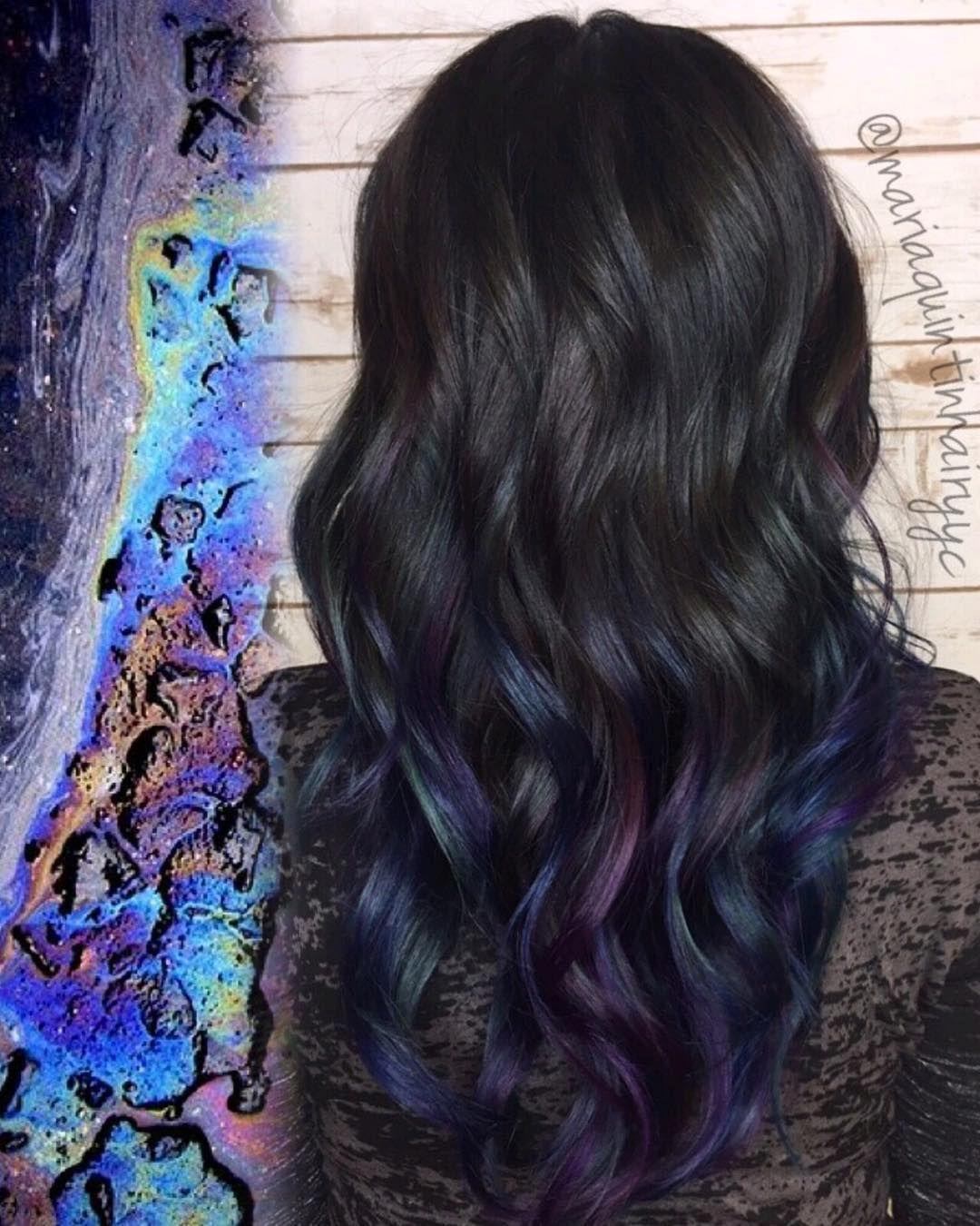 Pinterest prisxoox Oil slick hair, Long hair styles