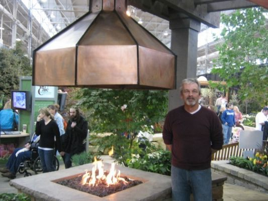 Copper Fire Pit With Hood Neat Gazebo With Fire Pit Fire Pit Covered Patio Design