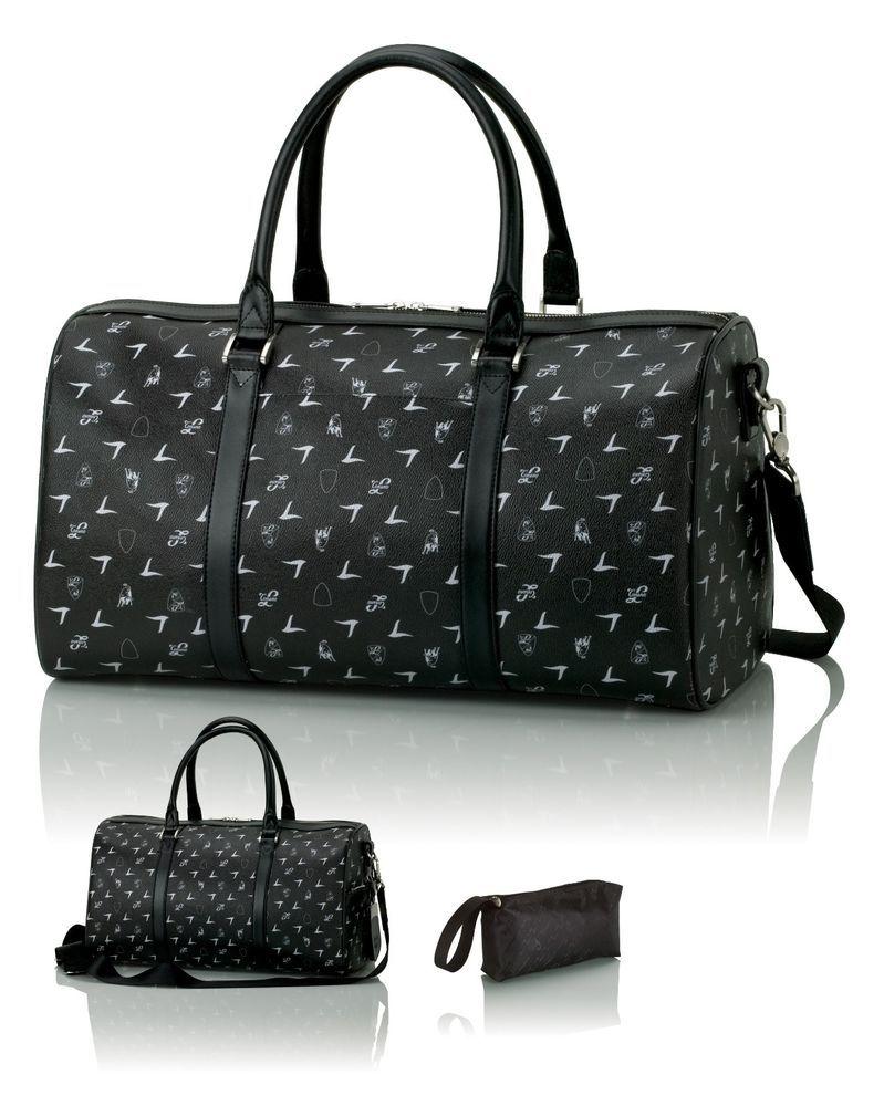 5a3e505ff91c New Signature Lamborghini Monogram Black Leather Duffel / Weekend Bag  #LamborghiniLuggage