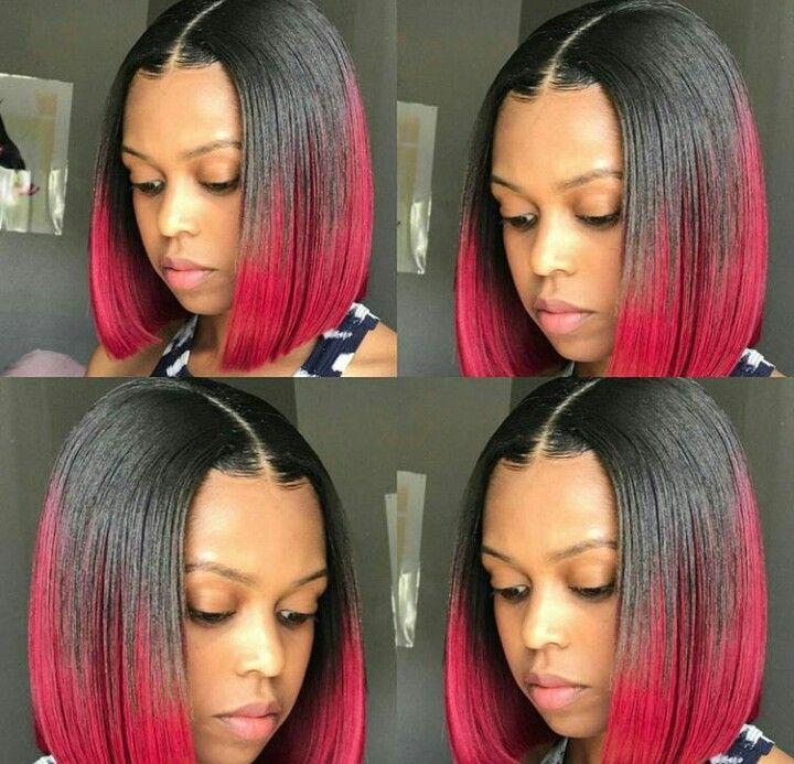 Red Black Bob Black Girl Bob Hairstyles Black Bob Hairstyles Red Weave Hairstyles
