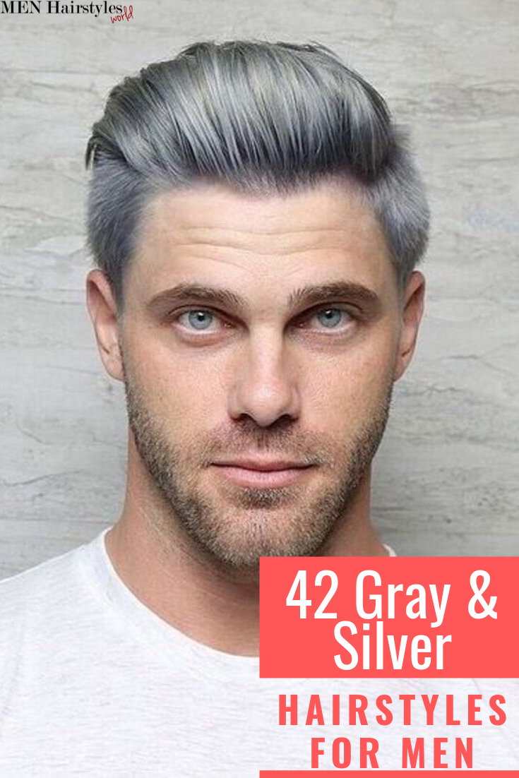 Let S Face It It S The Best Time To Have Naturally Silver Or Gray Hair And To Sport That Silver Fox Look Hollywood Silver Hair Men Dyed Hair Men Silver Hair