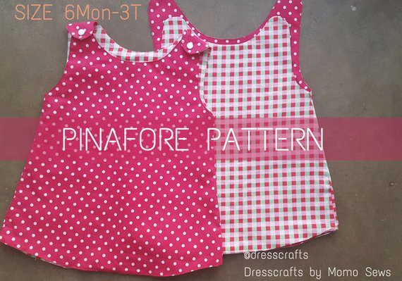 404489a86e90a Pinafore Pattern by Dresscrafts -PDF Pattern - Digital Download ...