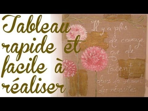 tableau facile et rapide r aliser youtube trucs a faire diy tableaux. Black Bedroom Furniture Sets. Home Design Ideas