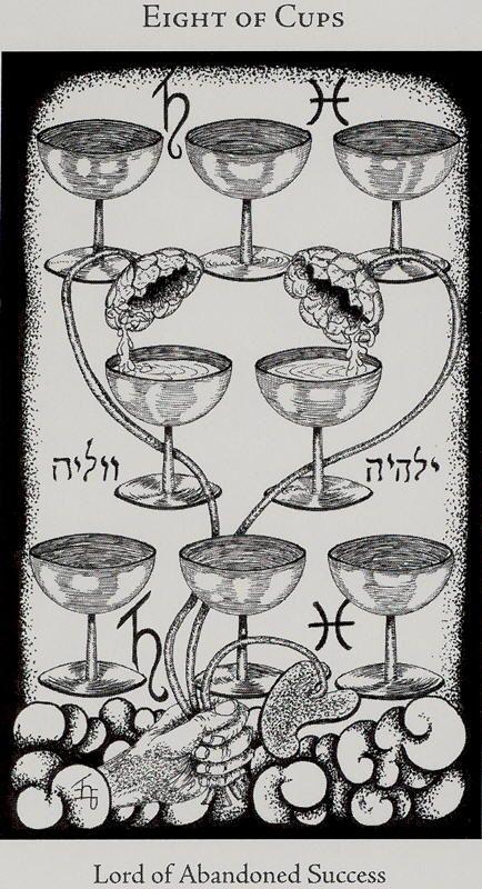 8 of cups Hermetic Tarot | Tarot Cards of Pisces: 8 of Cups