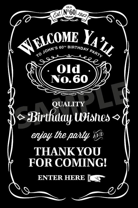 jack daniels birthday invitation | adult birthday party ideas, Invitation templates