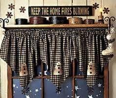 Primitive Kitchen Curtains | Primitive Country Curtains And Valances Bing Images Cenefas
