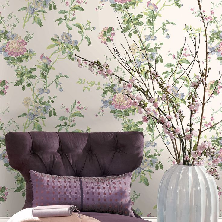 Photo of A vintage floral wall covering for your recreational room makes for the perfect …