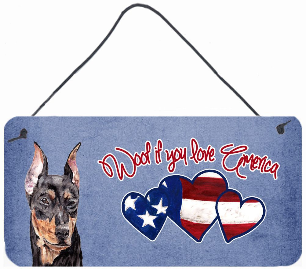 Woof if you love America German Pinscher Wall or Door Hanging Prints SC9916DS612