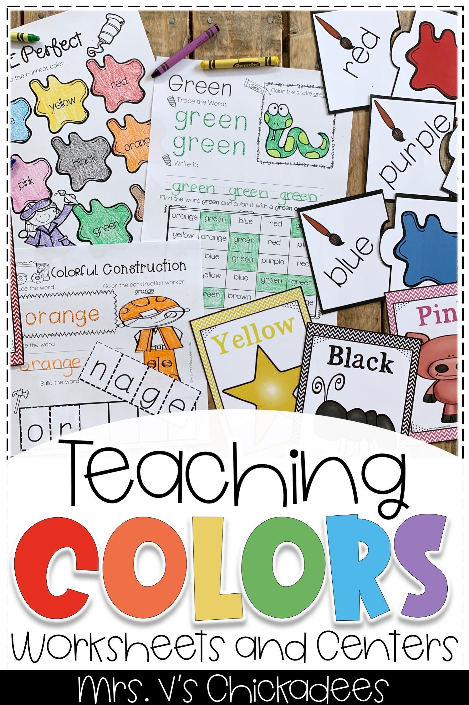 Teaching Colors Unit Worksheets And Color Centers With