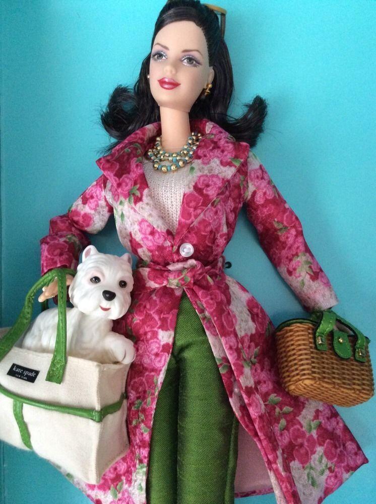 Kate Spade Barbie Doll Designer Collection Limited Edition Brunette W Dog #Mattel #Dolls