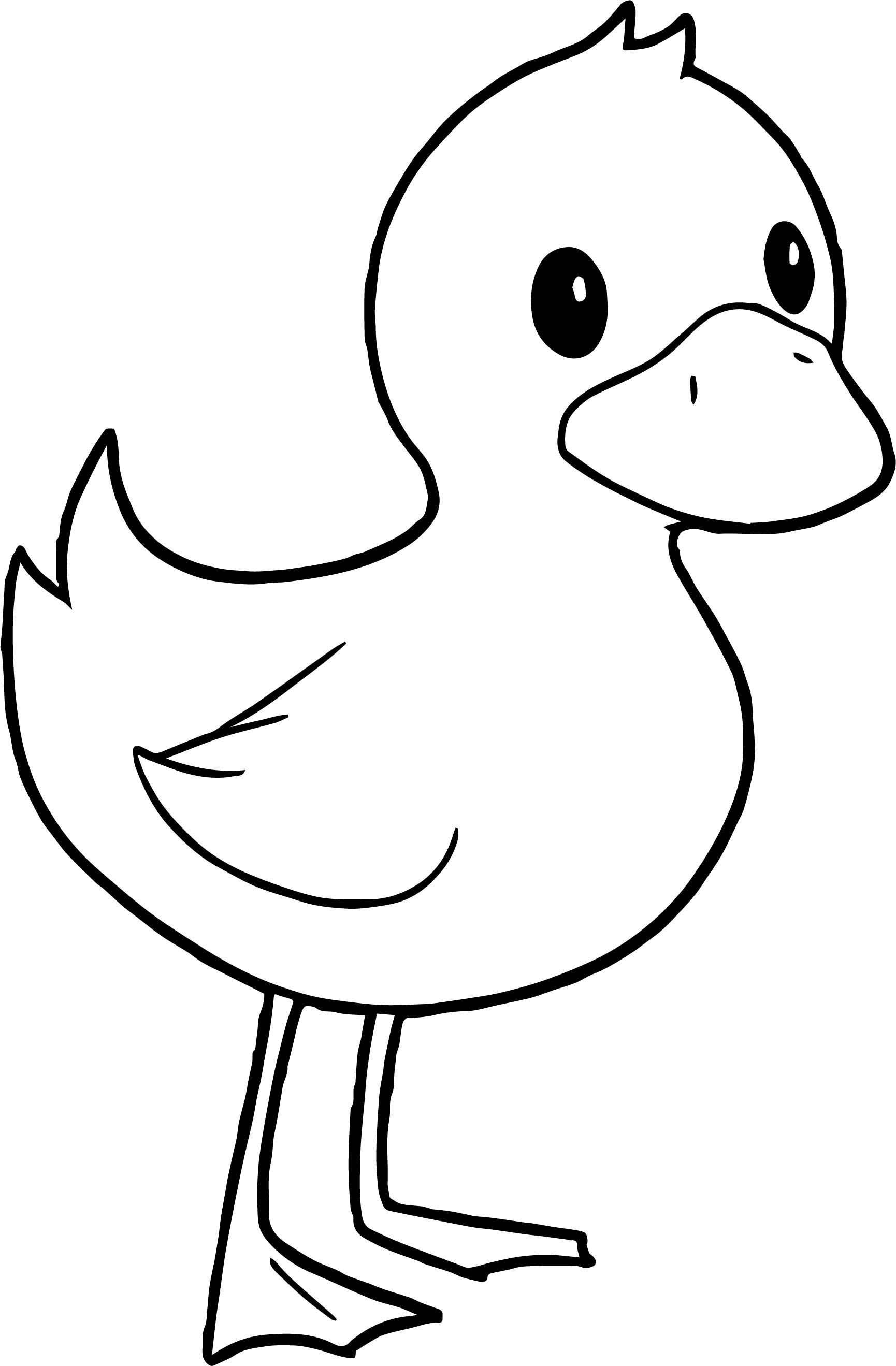 Awesome Duck Standing Coloring Page Coloring Pages Turkey