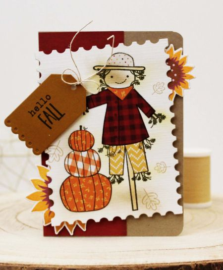 Hello Fall Card By Melissa Phillips For Papertrey Ink (August 2017)