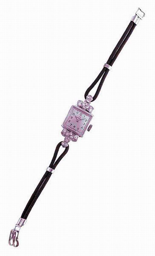 A ladies Omega diamond cocktail wristwatch, manual wind