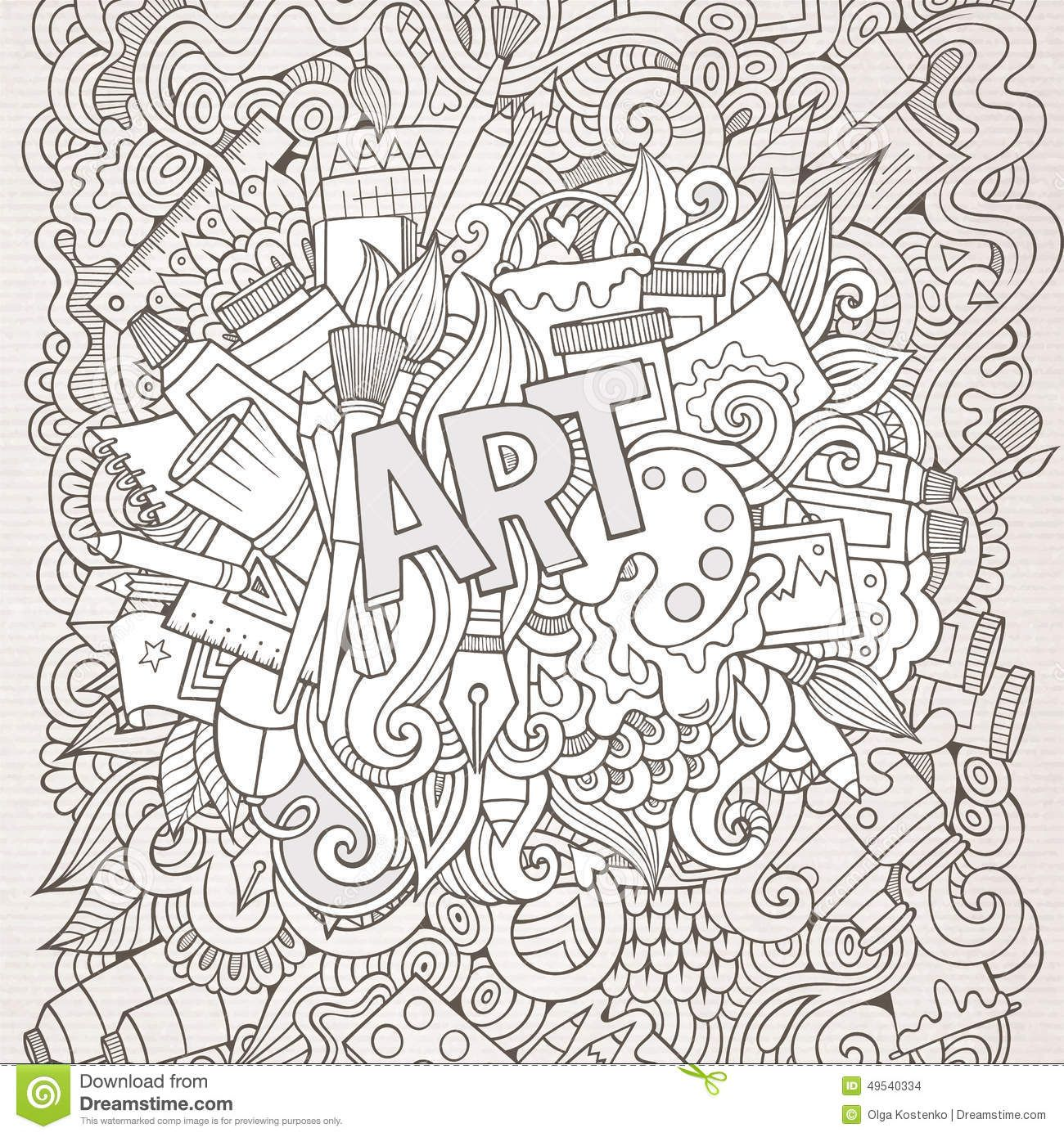 Abstract Drawing Coloring Pages : Abstract doodle zentangle zendoodle paisley coloring pages