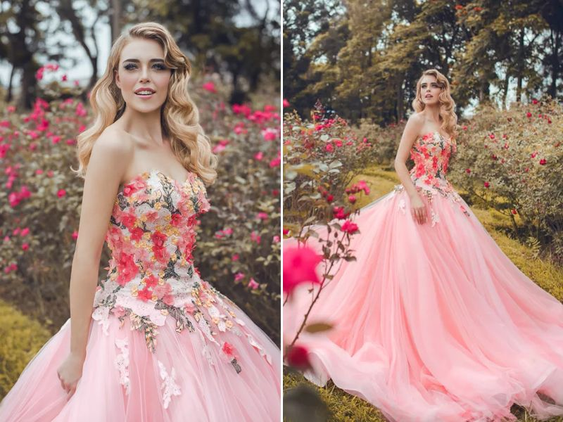 25 Incredibly Breathtaking Dresses with 3D Flowers & Appliques | Coser