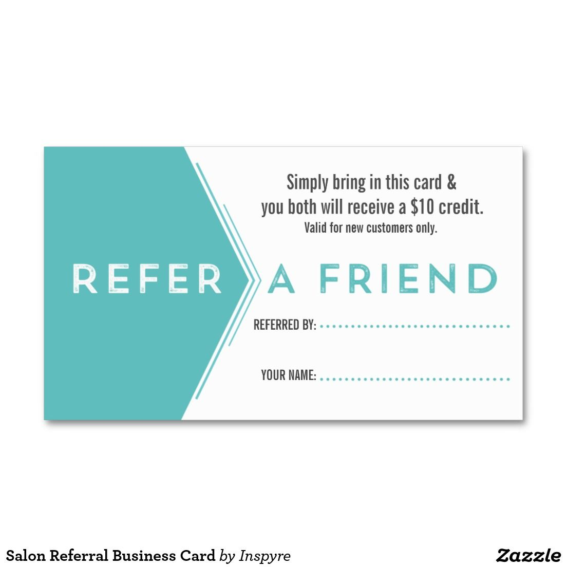 Salon Referral Business Card By Inspyre Design  Refer A Friend