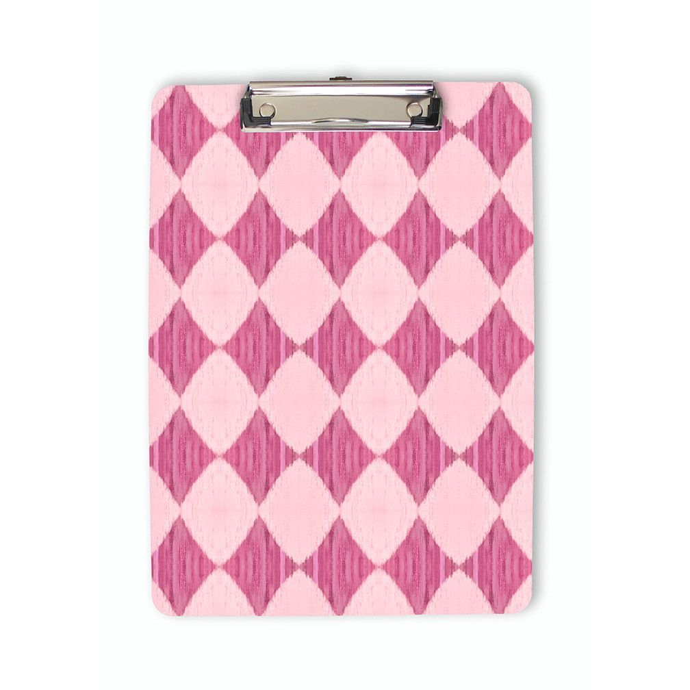 Ikat Style Diamond Pattern Clipboard in assorted pastel colors