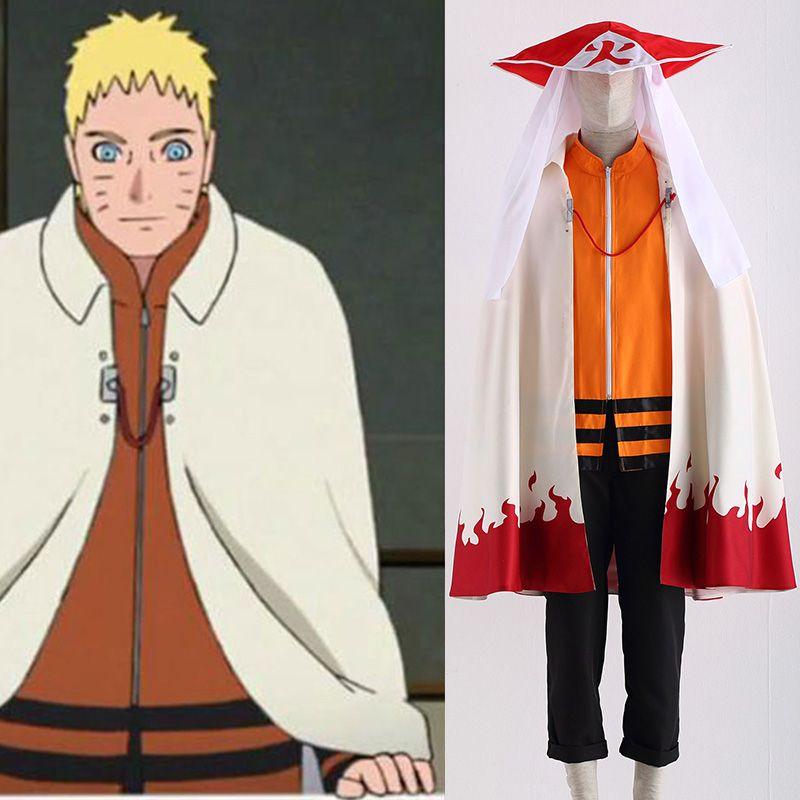 NARUTO0 Namikaze Minato Hatake Kakashi Cloak Cosplay Costume Cape Coat