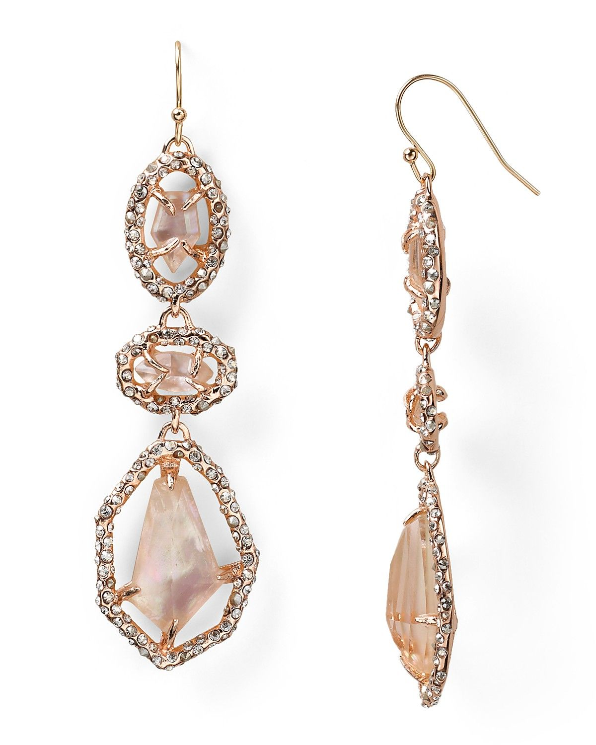 Alexis Bittar Bel Air Rose Gold Synthetic Peach Doublet