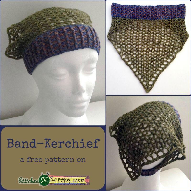f0467074 Free Pattern - Band-Kerchief Crochet Scarves, Crochet Clothes, Crochet Snood,  Crochet