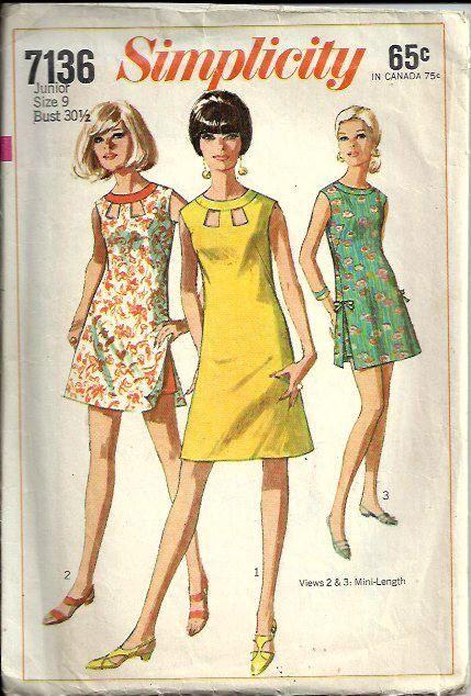 8ffbcc7dd4d 1960 s Misses Peek-A-Boo Dress or Beach-dress and Shorts Pattern ...