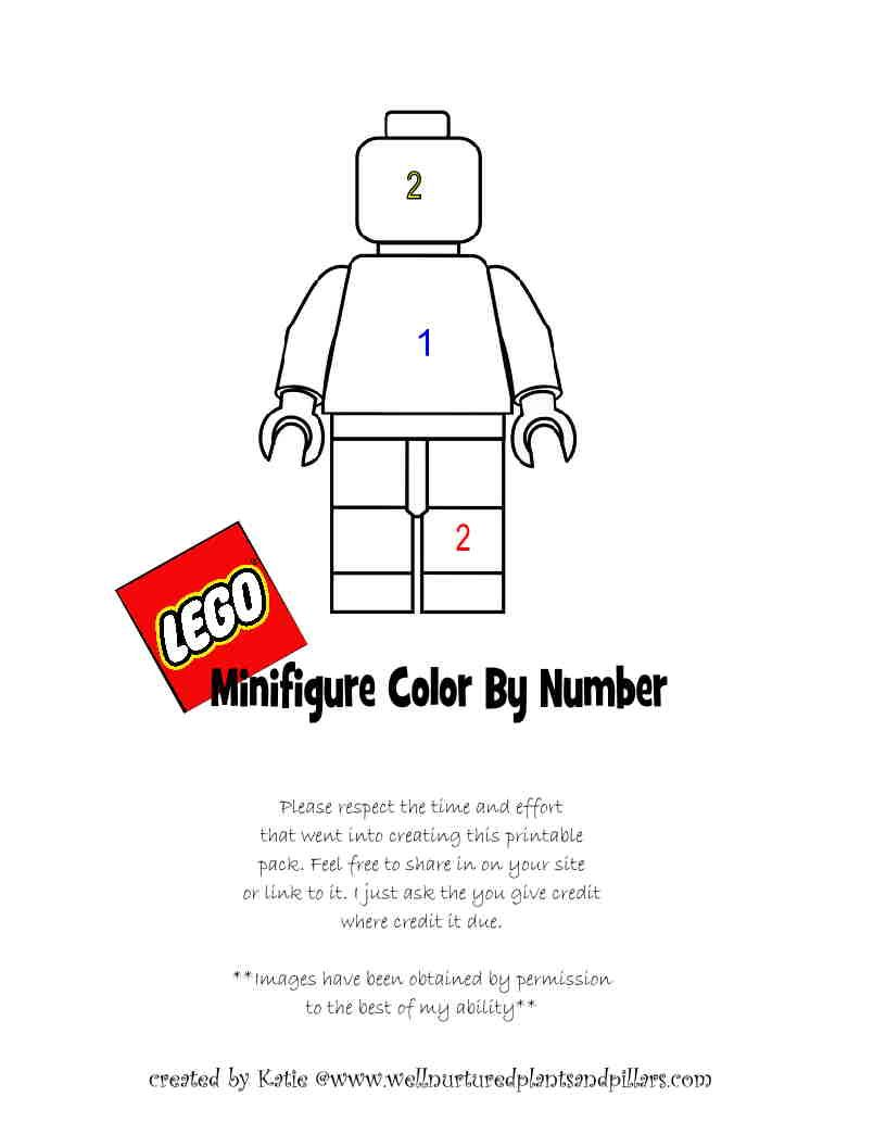 LEGO addition and multiplication color by number worksheets free ...