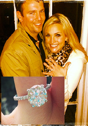"""Britney Spears's younger sister, Jamie Lynn Spears, is engaged to Jamie Watson.    Spears announced the news on Twitter with an Instagram photo of her engagement ring.    """"Guesssss what??????"""" she captioned the photo. Later she posted a close up of the round cut diamond engagement ring. """"He did good,"""" she wrote.    The couple have dated for three years.    This will be the first marriage for Spears, who was previously engaged to Casey Aldridge."""