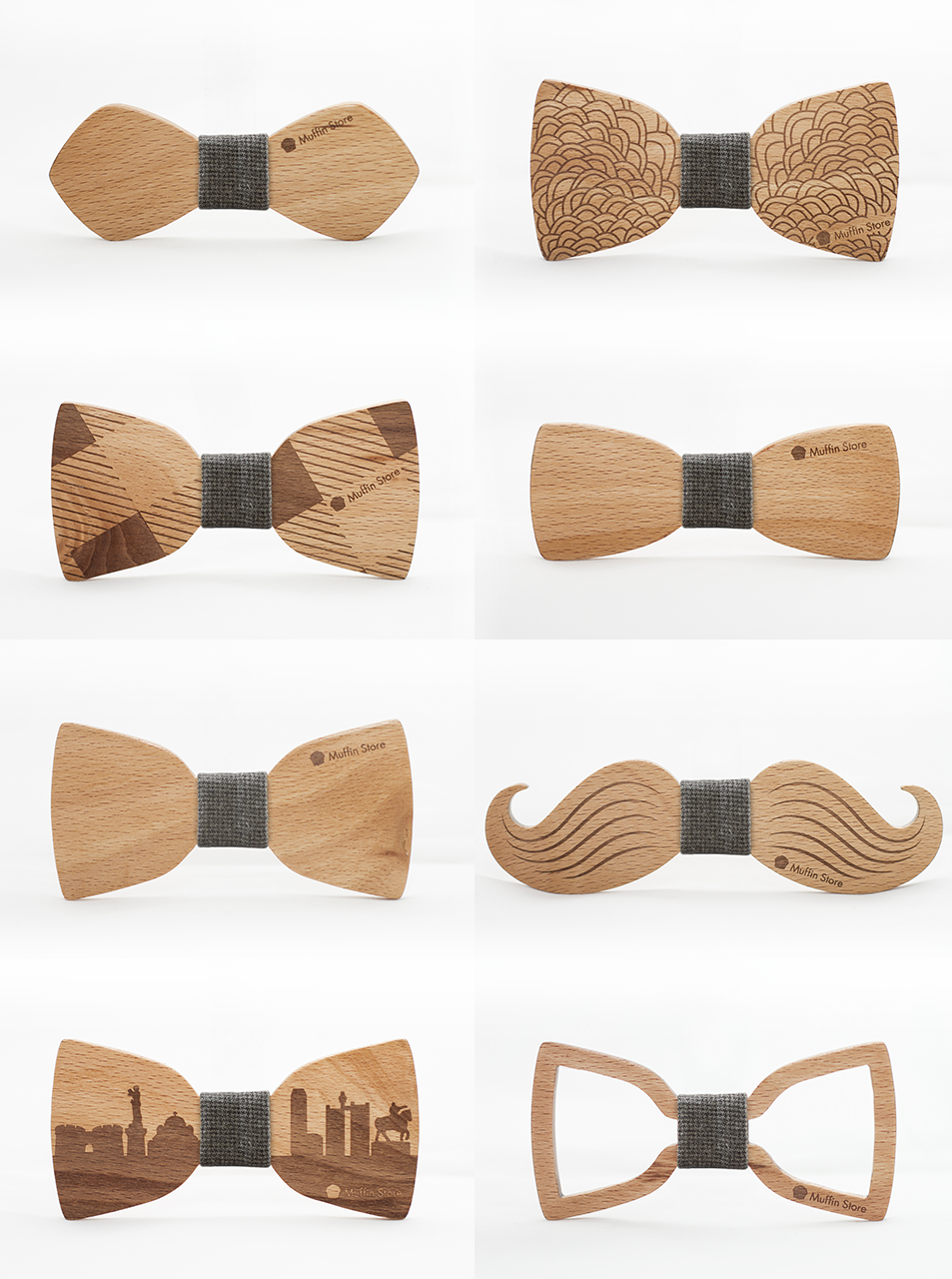 b6868f1b9467 Wooden bow ties by Muffin Studio #bowties #wooden #design #handcrafted # moustaches #cityscape #belgrade #pattern #style #wood #product #bow tie