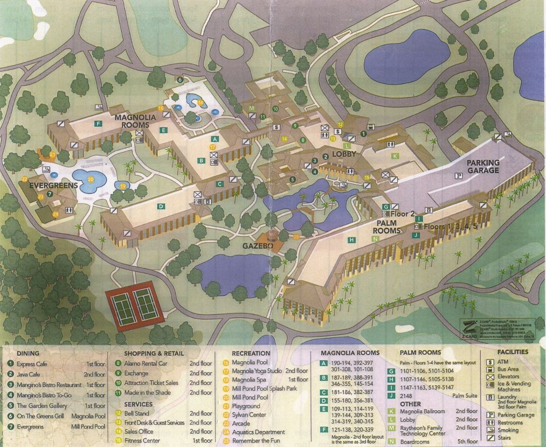 Imágenes de Walt Disney World Resort Map Shades Of Green