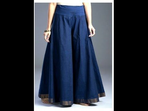 36bbc3c6c520 How to stitch Circular Palazzo/ Divided Skirt/ Wide Leg Trousers for Adults  - YouTube