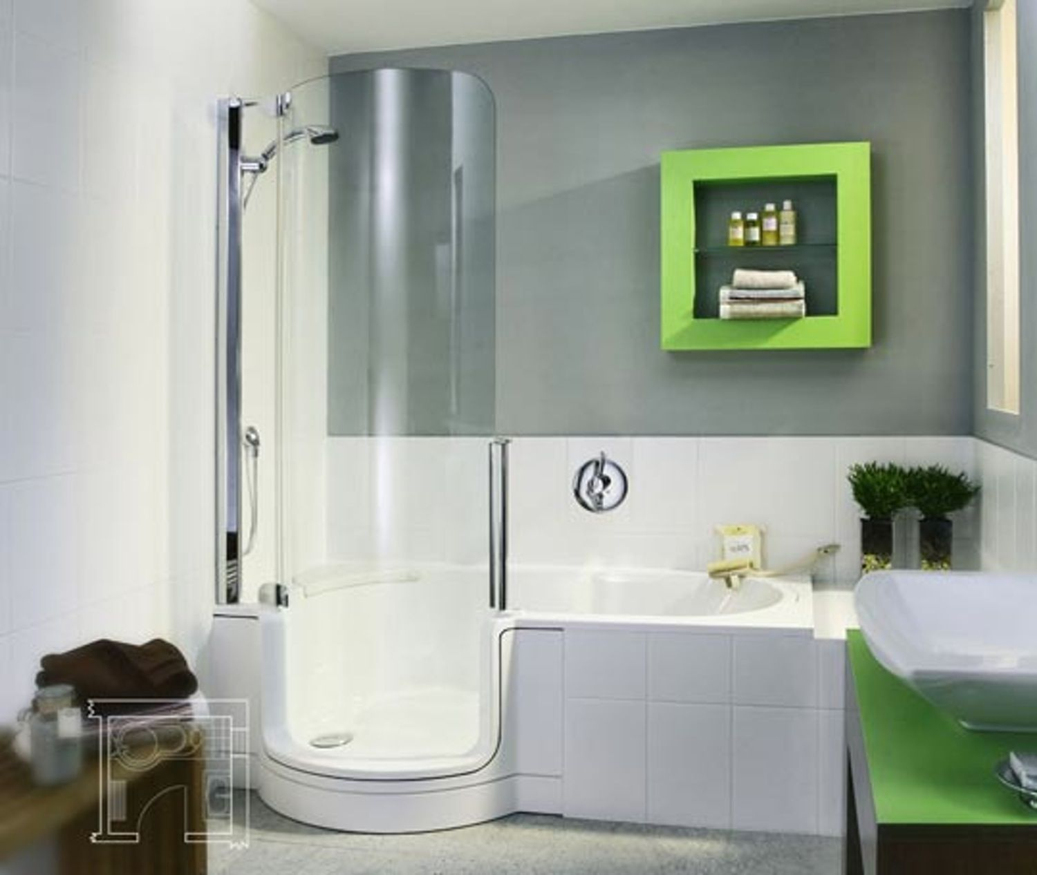 Twinline Tub Shower Combo | Tub shower combo, Tubs and Bathtubs