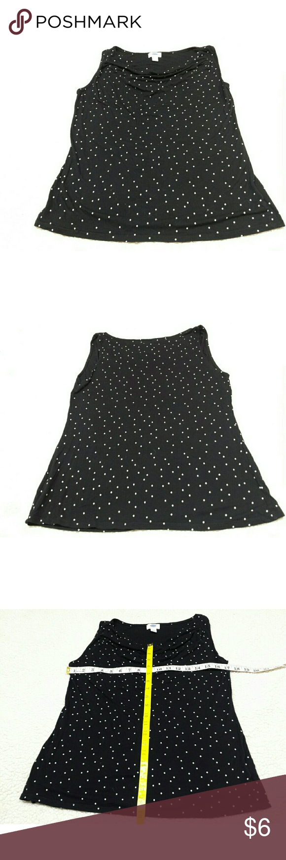 OLD NAVY BLK W/ WHITE POLKA DOTS SIZE M OLD NAVY BLK W/ WHITE POLKA DOTS SIZE M OLD NAVY  Tops Blouses