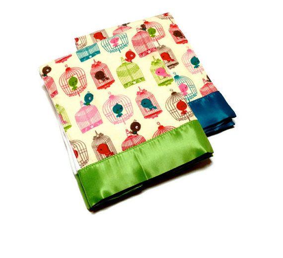 Tweet Tweet Premium Baby Girl Burp Cloth Set of Two by #HattieDesigns #birds #baby