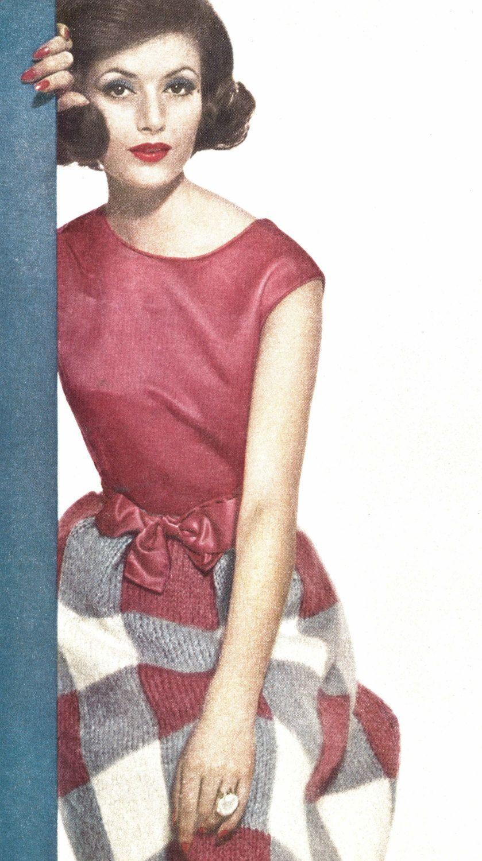 Mohair softness 1960s knitting knit skirt pattern vintage mohair softness 1960s knitting knit skirt pattern vintage vogue knit 1961 womans digital bankloansurffo Choice Image