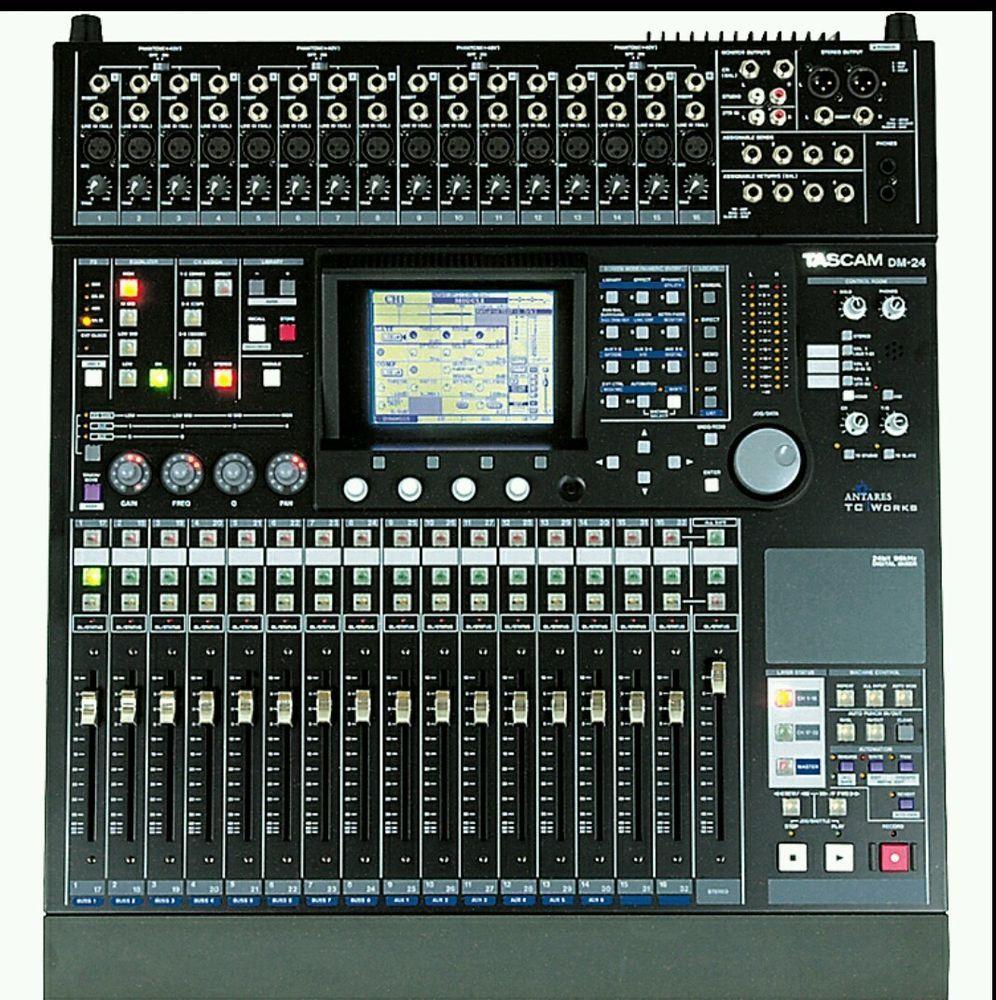 Tascam Dm 24 8 Bus Mixing Console Mixer Studio Board Effects Dm24