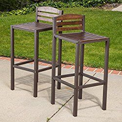 Isabel Acacia Barstools (Set of 2