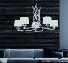 Lámparas de Techo : Colección OLIVIA PLATA 5 luces