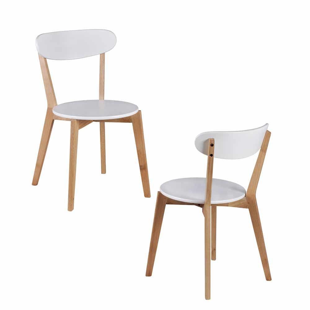 Stuhl Set in Weiß Holz Gestell (2er Set) Jetzt bestellen unter ...