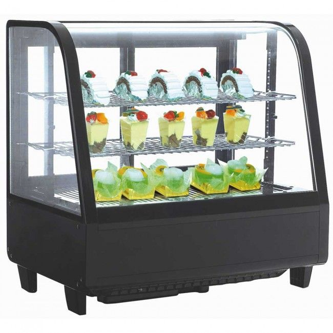 countertop drop curved case vollrath countertops display in cabinet refrigerated glass