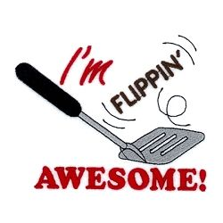 I'm Flippin' Awesome - 5x7 | What's New | Machine Embroidery Designs | SWAKembroidery.com Starbird Stock Designs