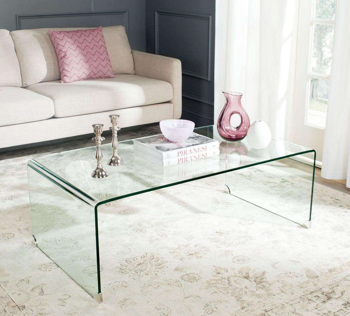 Fox6014a Coffee Tables Furniture By Safavieh Coffee Table Rectangle Coffee Table Clear Coffee Table [ 1084 x 1200 Pixel ]